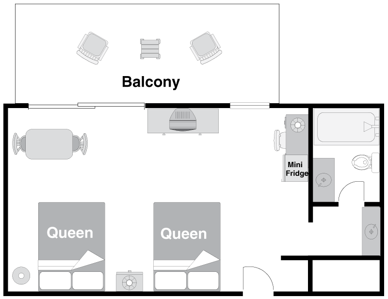 Floor Plan - Superior Room Limited View